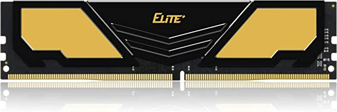 TEAMGROUP Elite Plus DDR4 8GB Single 2400MHz PC4-19200 CL16 Unbuffered Non-ECC 1.2V U-DIMM 288 Pin PC Computer Desktop Memory Module Ram Upgrade - Gold & Black - TPD48G2400HC1601