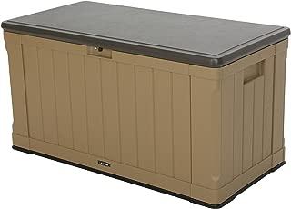 Lifetime 60167 Outdoor Storage Box, 116 Gallon, Heather Beige