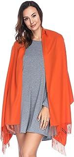 HOYAYO Damen Kaschmir Wolle Umschlagtuch Warm Schal Tuch Stola,Einfarbiger schal für Frauenvielen Farben