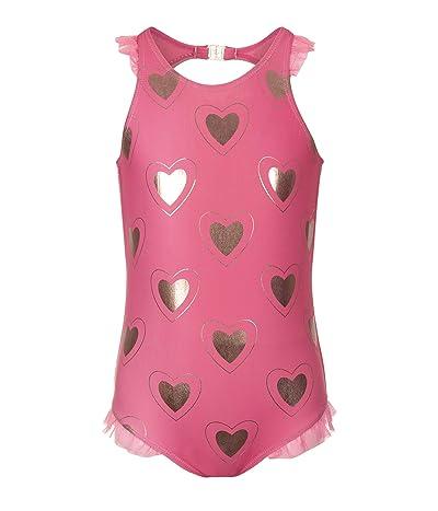Appaman Kids One-Piece Gold Heart Calla Swimsuit (Toddler/Little Kids/Big Kids) (Hearts) Girl