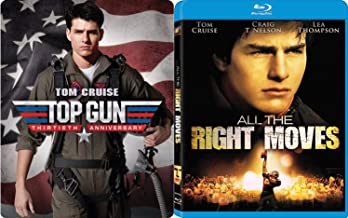 Sport + Planes Tom Cruise Classic Drama Collection Top Gun Steelbook Limited Edition + All The Right Moves 2-Movie Bundle 80's Double Feature