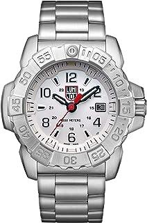 ساعة رجالي من لومينوكس، لون أزرق بحري، 3258: سوار صلب أسود بطول 45 مم، مقاوم للماء 200 متر