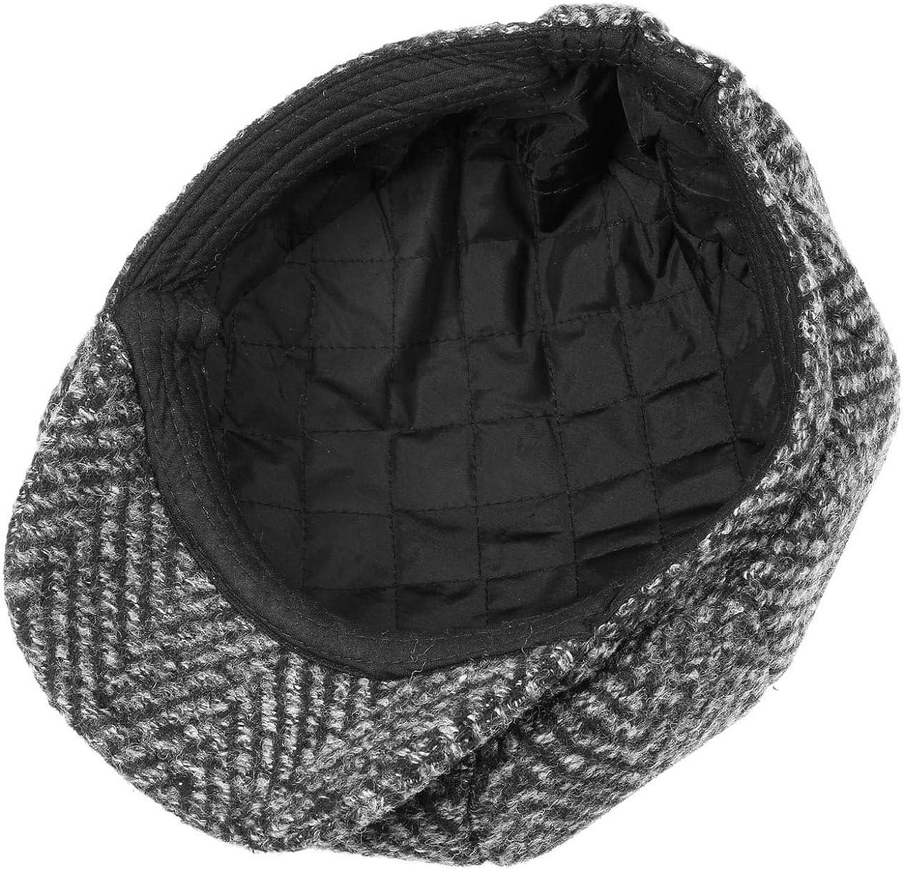 Flatcap mit Futter Winterm/ütze Lipodo Coarse Herringbone Schirmm/ütze Herren M/ütze mit Wolle Ballonm/ütze Herbst//Winter