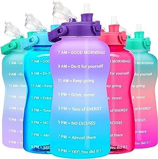 BuildLife Motivational Gallon Water Bottle - 128/64 oz...