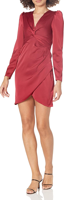 KENDALL + KYLIE Women's Regular Twist Tie Waist Dress