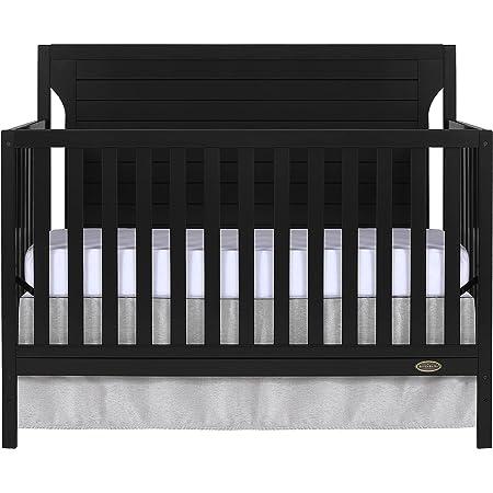 Dream On Me Cape Cod 5-in-1 Convertible Crib, Black