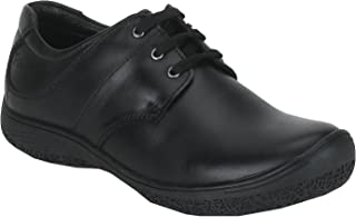 Red Chief Black Men's Genuine Leather Low Ankle Casual Shoes