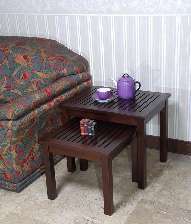 Home Accents Mahogany Valencia Nesting Table Set of 2 Pcs