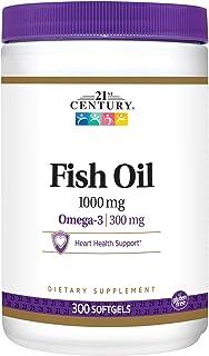 كبسولات زيت السمك اوميجا 3 من 21 سنشري، 1000 ملغ، 300 كبسولة جيلاتينية
