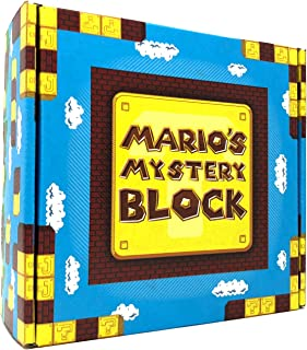 Mario's Mystery Block - Gift Box Set of Mystery Toys, Novelty, Candy, and Much More from The Entire World of Nintendo Brand!