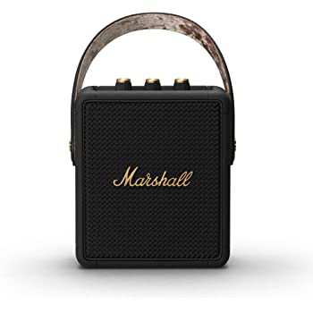 Marshall Stockwell II Portable Bluetooth Speaker - Black and Brass - Amazon Exclusive