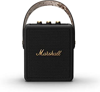 Marshall Stockwell II Portable Bluetooth Speaker - Black & Brass (Exclusive to Amazon), Black and Brass