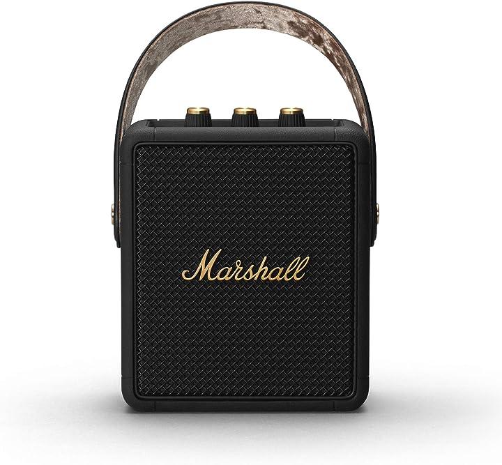 Altoparlante portatile marshall stockwell ii , nero (black/brass) 1005544