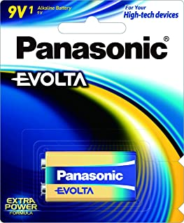 Panasonic 9V Premium Alkaline Evolta Battery, (6LR61EG/1B)