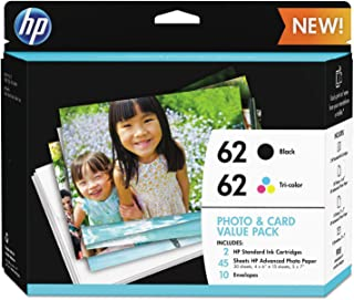 $43 » HP 62 | 2 Ink Cartridges | Black, Tri-color | C2P04AN C2P06AN