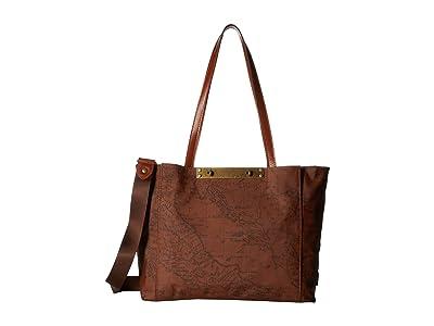 Patricia Nash Silvi Travel Tote (Signature Map) Handbags