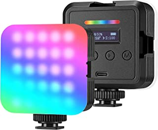 Neewer Dimmable Camera Video Light Kit: Bi-Color 280 LED Panel CRI 96+ 3200-5600K,2 Pieces Rechargeable Li-ion Battery and...