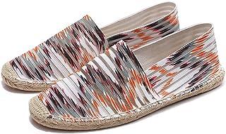 ZestOne Women's Classic Stripe Canvas Flat Espadrilles Minimalist Slip-on Loafer Summer Shoes