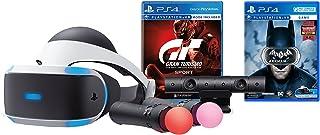 PlayStation VR Bundle (3 Items)- Gran Turismo Sport Bundle, PlayStation Move Motion Controllers - Two Packs, and PSVR Batman: Arkham VR - PlayStation 4 (Game Disc)