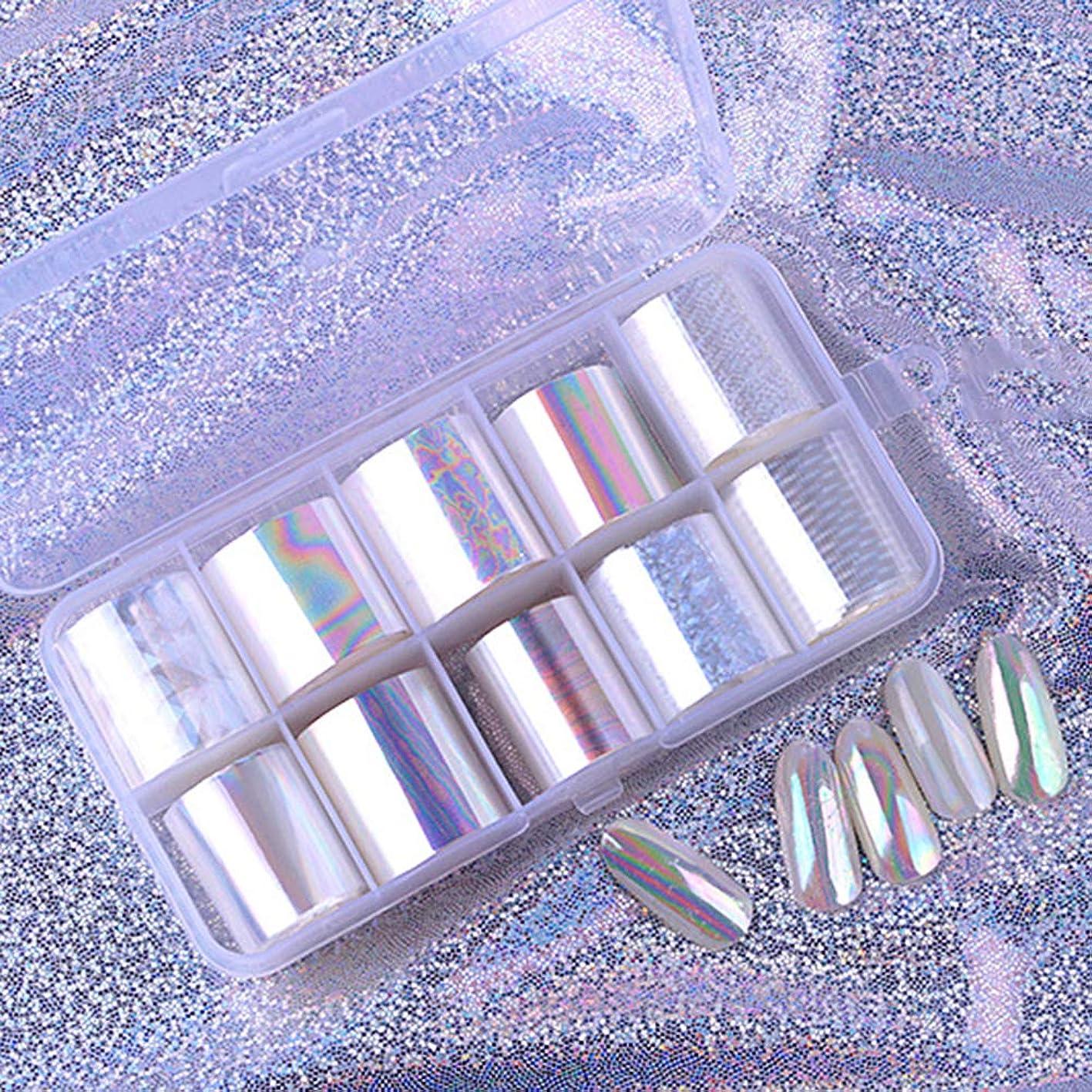 アラスカ処理するおっとOurine ネイルステッカー ネイルスター紙パッケージリーフレット 光沢のある星空紙 ネイルアートジェルセット ポーランドUV LEDゲル ネイルポリッシュ ネイルシール テープ ネイル 10枚セット 収納ケース