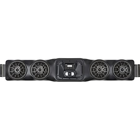 SSV Works WP-UO4L Bluetooth 4 Speaker Overhead Stereo System for Kawasaki Teryx 2 and Teryx 4, Polaris Ranger 400, 800 and 900XP, Yamaha Viking and Rhino, Honda Pioneer 700