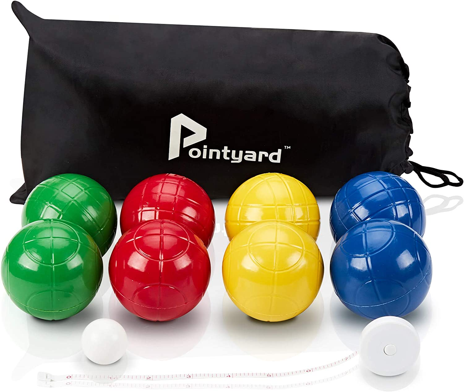 Pointyard 90mm Bocce Ball Set, Lighter Bocci Ball Sets with 8 PE