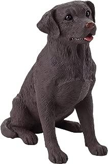 Sandicast Small Size Chocolate Labrador Retriever Sculpture, Sitting