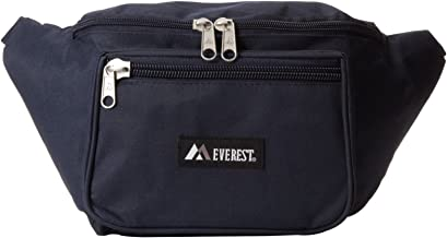 Everest 044XLD Extra Large Fanny Pack, Navy, Single Fanny Pack