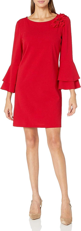 MSK Women's Double Bell 3D Dress