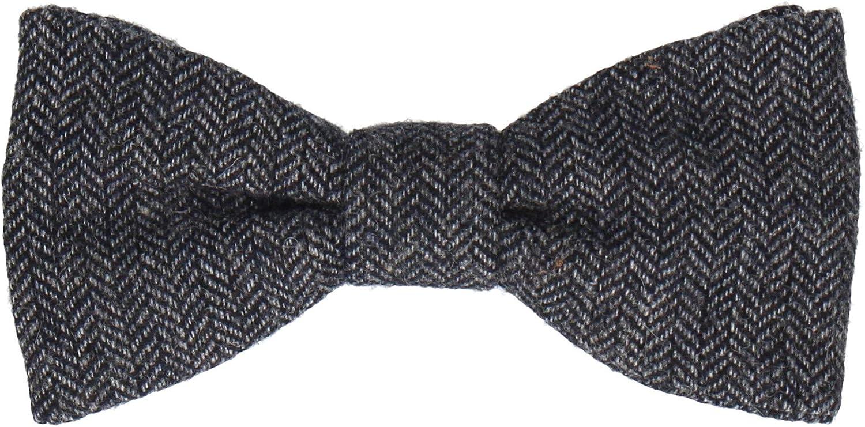 Mrs Bow Tie Faux Tweed Pre Tied, Self Tying Bow Ties