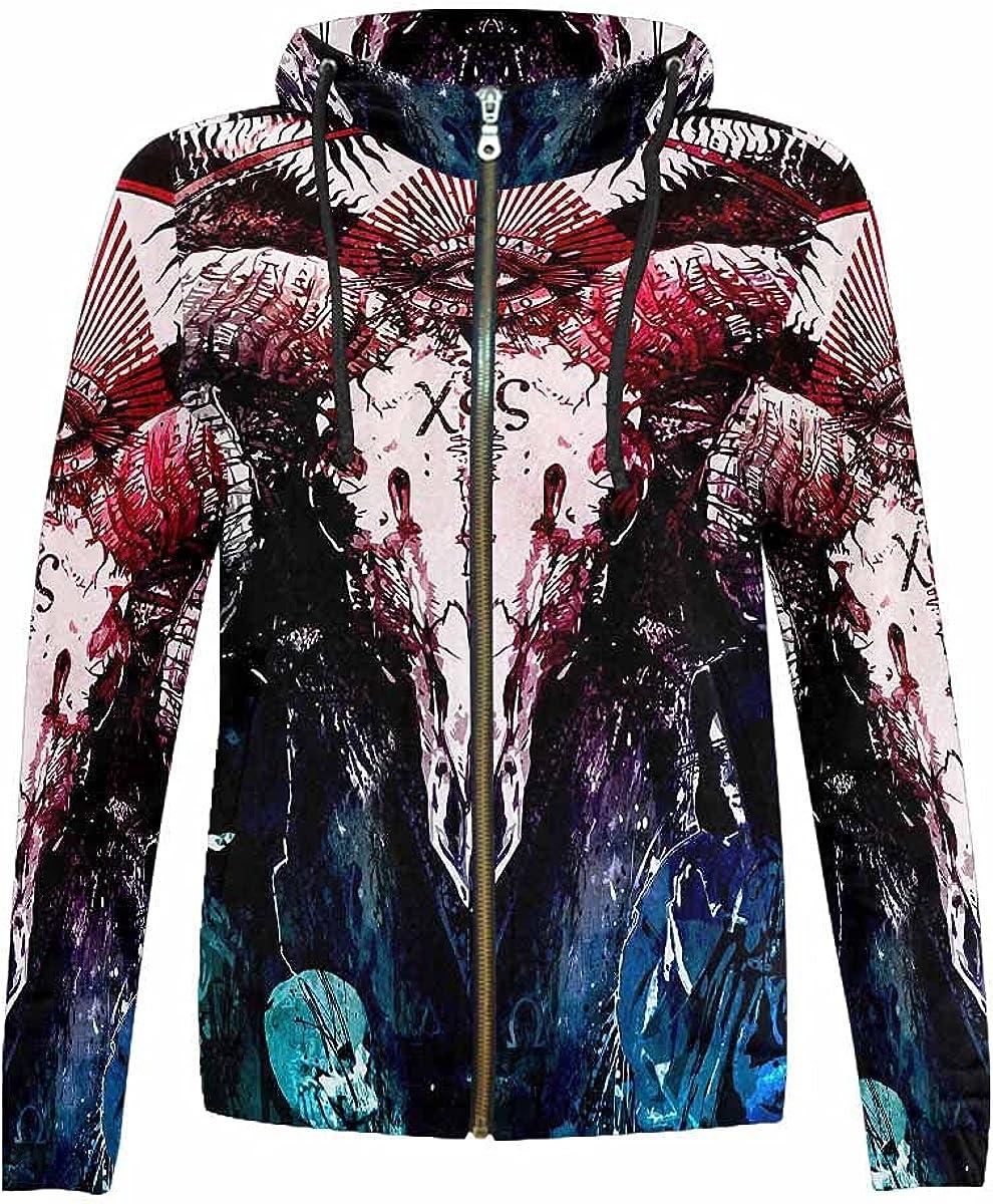 InterestPrint Zebra Max 79% OFF Portrait Stand for Opening large release sale Collar Hooded Sweatshirt