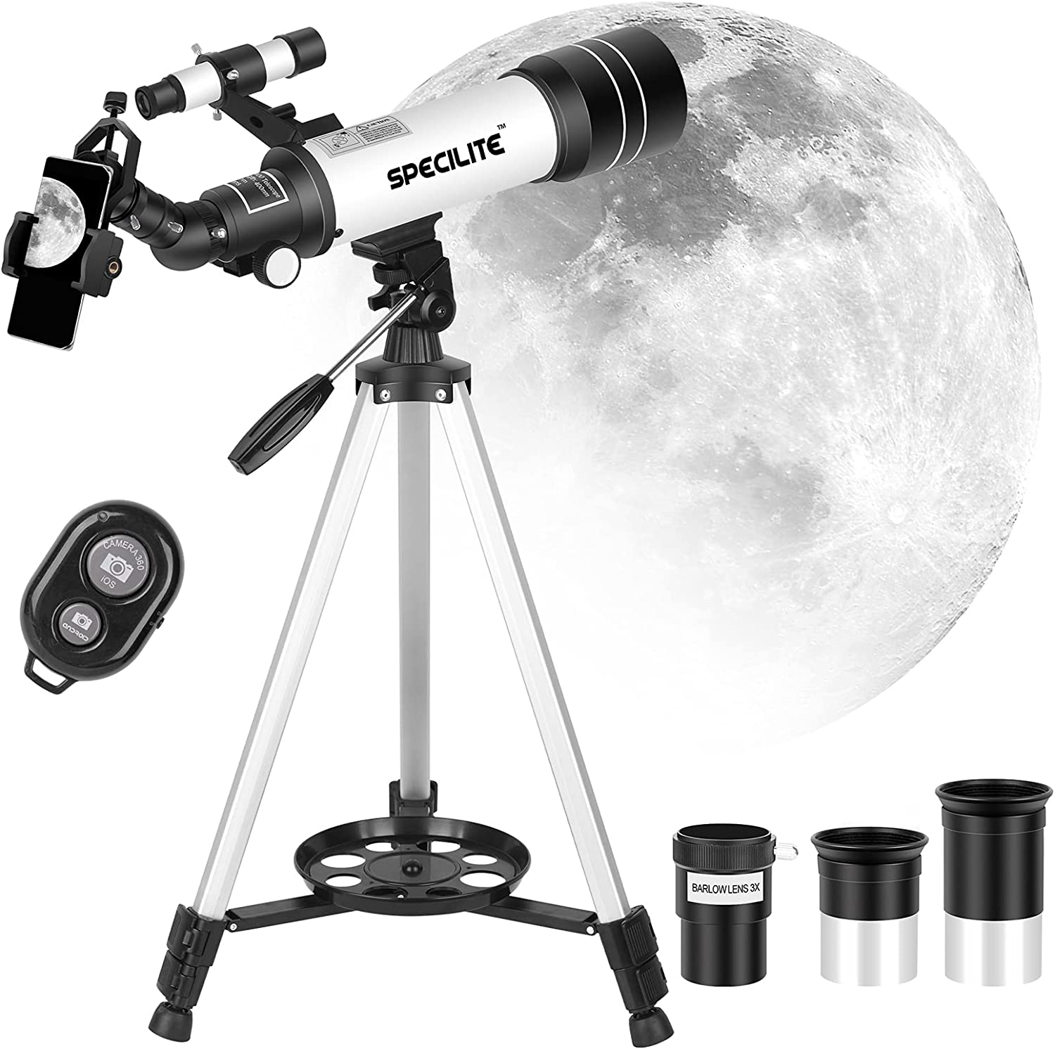 SPECILITE New popularity Telescope for Kids Adults Astronomy 70mm Topics on TV Beginners Ap