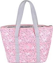 Liangwan Opvouwbare Lunch Bag Cooler Geïsoleerde Picknick Zakken Met Ritssluiting voor Vrouwen Meisjes, Roze