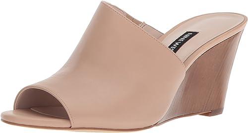 Nine Nine West Wohommes JANISSAH Slide Sandal, Light Natural Leather, 11 M US  designer en ligne