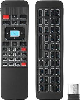 KKmoon エアマウス ワイヤレスキーボード 2.4Gバックライト 6軸センサーリモートコントロール IR学習 スマートテレビAndroidテレビボックス/ミニPC用