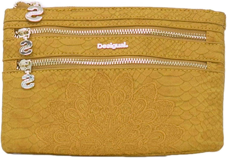 Desigual Women's 18WAYP24YELLOW Yellow Polyester Wallet