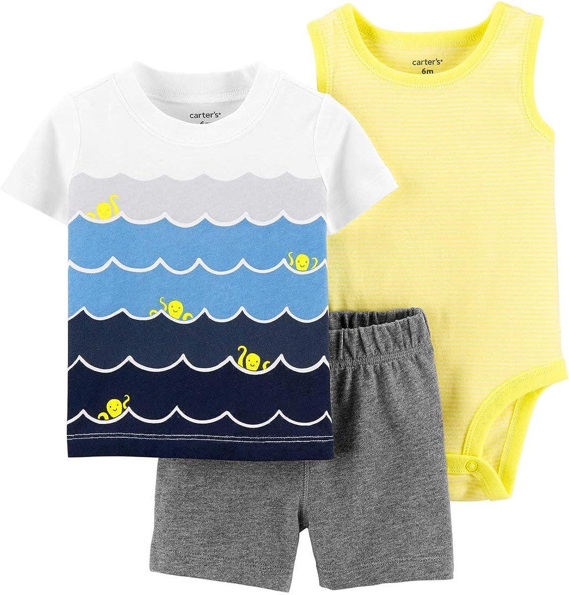Carter's Baby 3-Piece Waves Little Short Set (Newborn)