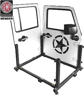 Offroad Door Storage Movable Cart Door Holder Sliding Rack for 2007-2019 Jeep Wrangler JK & JL Unlimited 4-Door