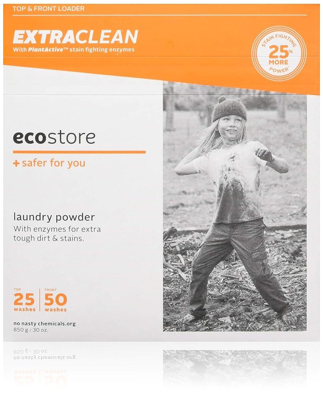 酸トン外向きecostore エコストア ランドリーパウダー 【エクストラクリーン 】 850g 汚れ落とし 洗濯 洗剤