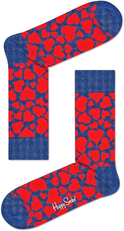 Happy Socks Unisex Heart Pattern Crew Socks