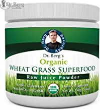 Dr. Berg's Wheat Grass Juice Organic Superfood Powder - Raw & Ultra-Concentrated Nutrients - Rich in Vitamins, Chlorophyll & Trace Minerals - 60 Servings - Gluten Free - Non GMO - 5.3 oz (1 Pack)