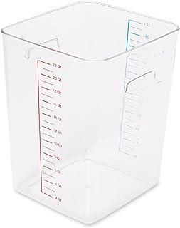 Rubbermaid Commercial Products FG9F0900WHT Boîte de stockage carrée 20,8 L, Blanc