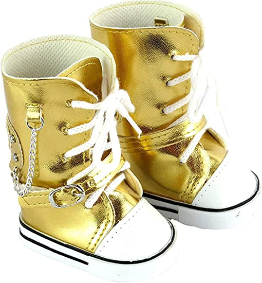 Ivory Bow Winter Boots for American Girl Dolls 18 Inch Doll Boots