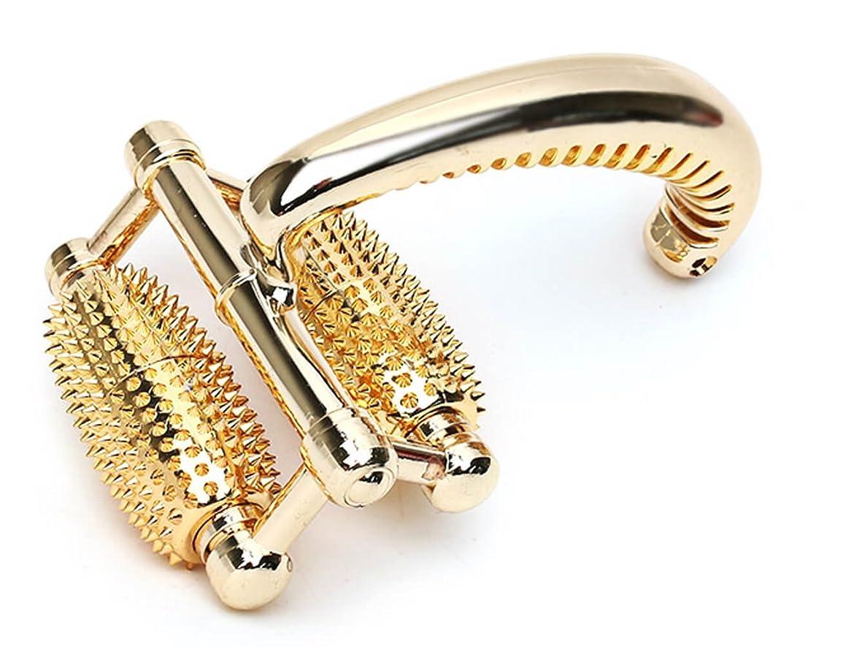絵モーション着陸SungjinABLE 金針ローラー 全身マッサージ器 ローラ 経穴点 指圧マッサージ機 手のひら 足 肩 首 アンマ機 海外直送品 (Gold Full Body Roller Massager Acupressure Shiatsu Massager Palm Foot Shoulder Neck Massager)