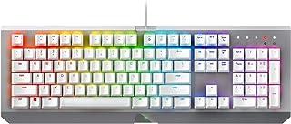 Razer RZ03-01762000-R3M1 BlackWidow X Chroma Mercury Edition, Mechanical Gaming Keyboard, US Layout, White