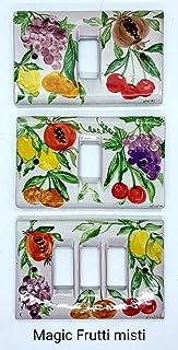 Placchette Bticino Frutti Misti Melograni Ceramica Handmade Le Ceramiche del Castello Made in Italy