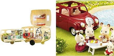 Calico Critters Camping Caravan & Convertible Coupe Car Sets