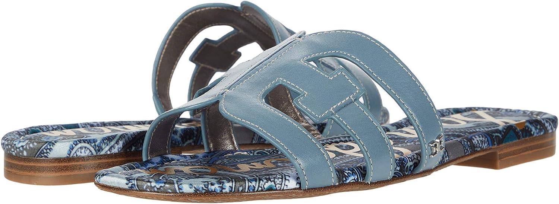 Sam Edelman Bay Smokey Blue Vaquero Saddle Leather 8.5 M