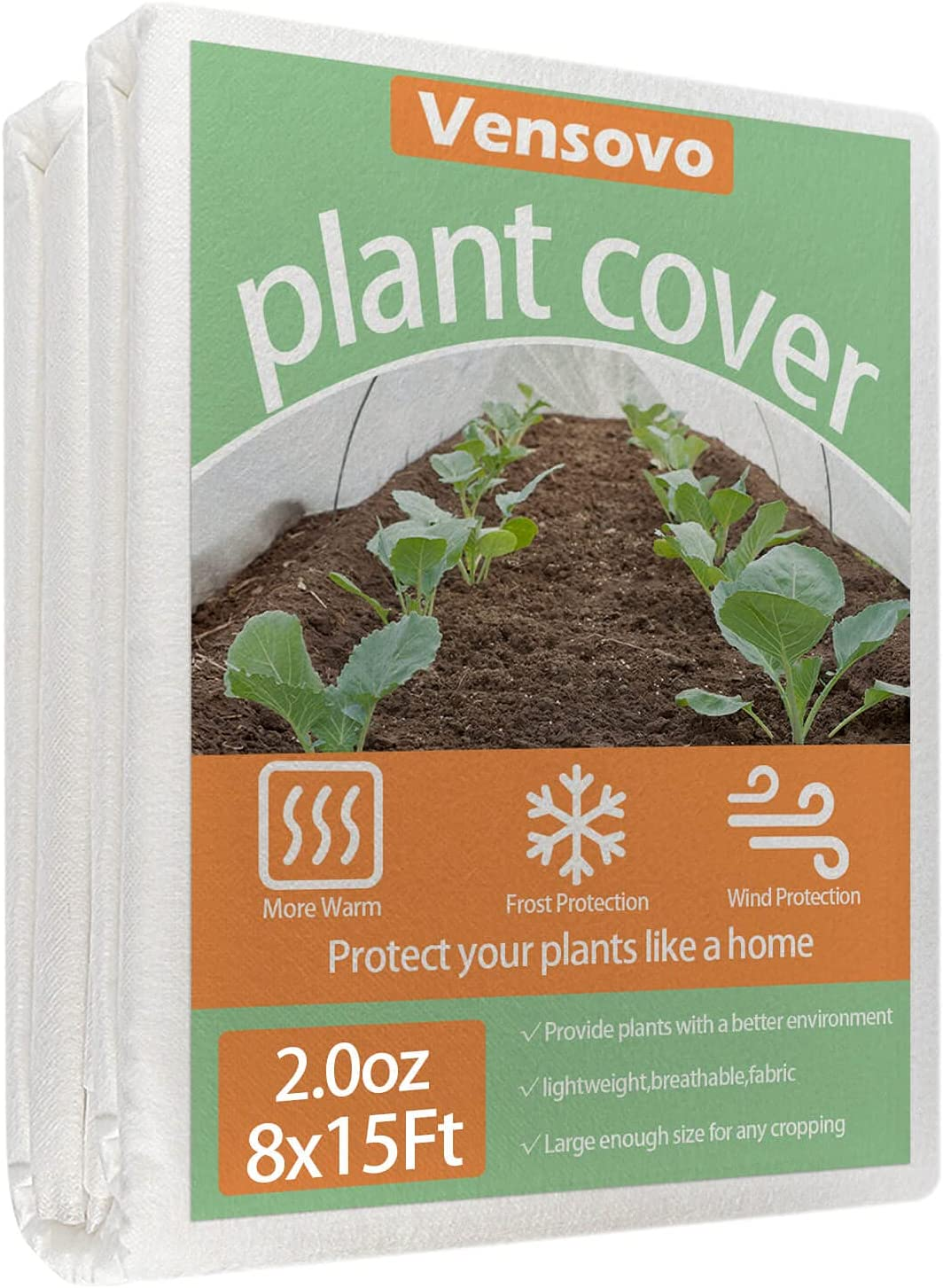 vensovo Shipping included Plant Covers Freeze Protection 2.0o 8Ft×15t 5 popular - Blanket