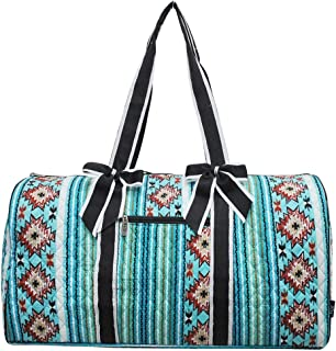 """NGIL Quilted Weekend Travel Overnight 20"""" Large Duffle Bag 2018 Collection (Blue Serape Black)"""